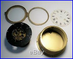 Vintage German Schatz Brass Cased Maritime Nautical Clock with Ships Bell 7