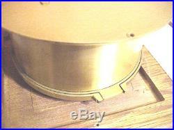 Vintage German Schatz Royal Mariner Brass Ships Clock 8 day Ships Bell Germany