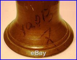 Vintage LARGE Marine Brass BELL Great Sounding Nautical -Ships Original (J)