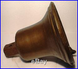 Vintage LARGE Marine Brass BELL Great Sounding Nautical -Ships Original (J)