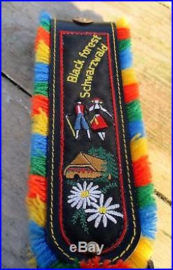 Vintage Large Authentic Swiss Cowbell Rustic Bell Strap Black Forest Schwarzwald