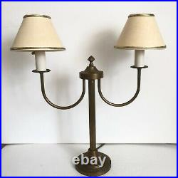 Vintage Laura Ashley Brass Table Lamp & Shades French Bouillotte Style GC