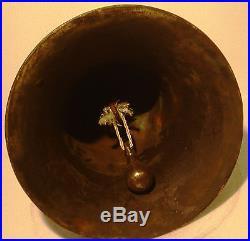 Vintage Marine Brass BELL Great Sounding Nautical Ships Original (D)