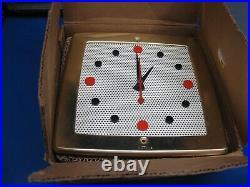Vintage Mid Century 1950s NuTone K-35 Clock Door Chime Bell Ivory Brass NIB NEW