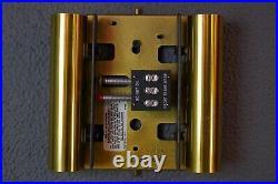Vintage Mid Century NuTone Brass Woodgrain Two-Note Door Bell Chime
