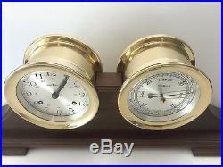 Vintage Nice Howard Miller Maritime Ships Bell Clock & Barometer 132-071 Clock
