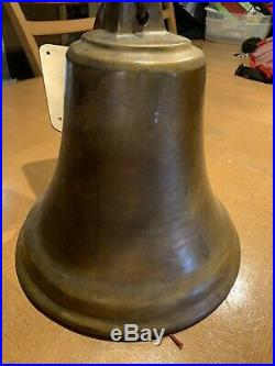 Vintage Old Heavy Antique Brass / Bronze Ships Mission School Farm Church Bell