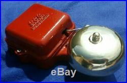 Vintage Old Industrial Gec Electric Fire Door Bell Garage Brass Dome Low Volts