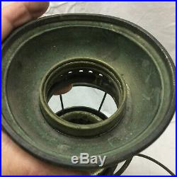 Vintage Railroad Lantern Brass Bell Bottom Post & Co. Makers Cin. Ohio Antique