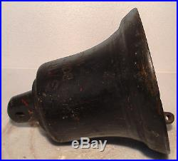 Vintage SARITA BOMBAY 1905 Marine Brass BELL -Great Sounding Nautical/ Boat