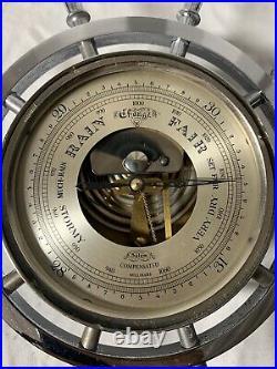 Vintage Salem Ships Bell Clock And Barometer Set-8 Day 7 Jewels- Brass- Working