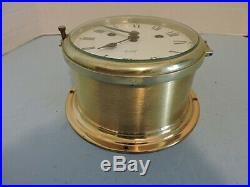 Vintage Schatz Brass Ships Bell ClockWorkingWithKey