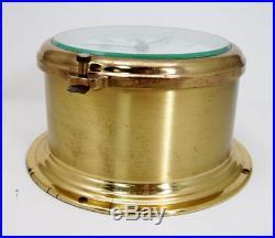 Vintage Schatz German Marine Ship Ocean Quartz Bell Brass Clock RUNNING