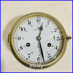 Vintage Schatz Royal Mariner 8 Bells Brass Clock