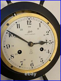 Vintage Schatz Royal Mariner 8-day Brass Ships Bell Clock No Key (GERMANY)