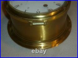 Vintage Schatz Royal Mariner Clock 8 Bells Germany Brass Martime Ship Rare