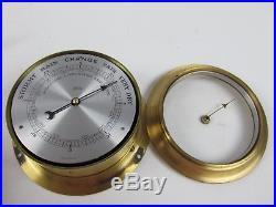 Vintage Schatz Ships Bell 8 Day 7 Jewels Clock Schatz Barometer Ship Boat Yacht