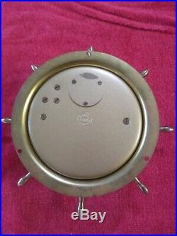 Vintage Schatz Sohne Brass Ships Bell 8 Day, 7 Jewel Nautical Clock Runs Good