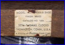 Vintage Seth Thomas Brass Maritime Ships Bell Clock & Barometer Set