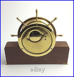 Vintage Seth Thomas Helmsman nautical ships bell clock Made in USA Conn