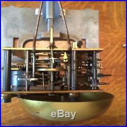 Vintage Seth Thomas Ships Wheel Ships Clock With Ships Bells