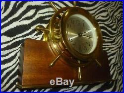 Vintage Seth Thomas Ships bell clock E537-001 Untested No Key
