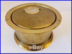 Vintage Seth Thomas'helmsman' Brass Nautical Ships Bell Porthole Marine Clock