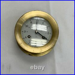 Vintage Shatz Ship's Bell Clock 8 Day 7 Jewel Made In West Germany Brass