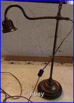 Vintage Solid Brass Antique Table Lamp Lighting Or Desk