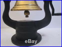 Vintage Style BRASS RAILROAD LOCOMOTIVE BELL Train Bell (5007)