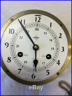 Vintage Swift & Anderson Ships Bell 8 Day Brass Clock Made In Germany By Schatz