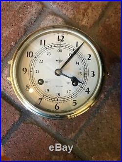 Vintage Swift Ships Clock Mariner Bell 8 Day Jeweled West Germany Brass WORKS