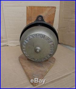 Vintage Victorian Door Bell Complete BRONZE BRASS 1800's Taylor