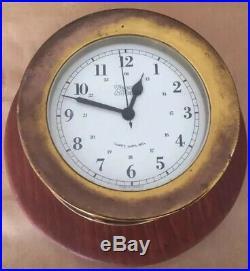 Vintage WEEMS & PLATH Quartz Ships Bell Clock Nautical Maritime W Germany