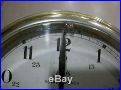 Vintage West German Schatz Royal Mariner Ships 8 Bell Clock