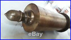 Vintage antique BRASS single chime WHISTLE valve steam air hit miss bell