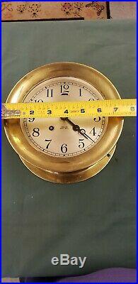 Vintage chelsea ships bell clock 1940s