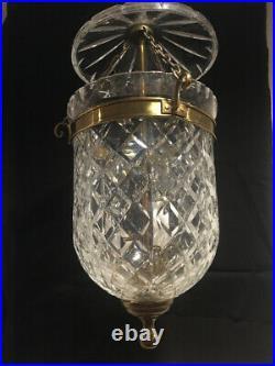 Vintage original and genuine Waterford Crystal Bell Jar Lantern Chandelier