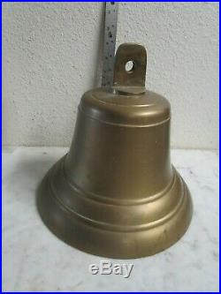 Vtg Antique 1930's Large 10.5 Inch BRASS SHIPS BELL with Original clacker NICE