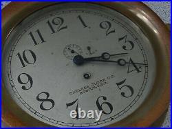 Vtg Antique Brass Chelsea Clock Co. Boston Ship's Bell Key Works 5 Digit Serial
