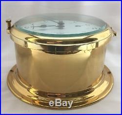 Vtg Brass Schatz Royal Mariner Ship's Bell Clock Germany Key Manual 4 UNUSED