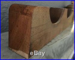 Vtg Howard Miller 5-1/8 Solid Brass Ship Bell Mantle Clock Barometer Set Works