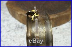 Vtg Schatz & Sohne Ships Bell Clock 8 Day 7 Jewels Brass Germany Works Great