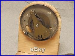 Vtg Steel Chrome Brass Wind Up Push Button Door Bell Old Hardware 756-16