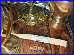 WEEMS PLATH ATLANTIC MODEL POLISHED BRASS GIMBALED MOUNT OIL LAMP WithSMOKE BELL