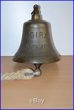 WW2 SS German Norddeutscher Lloyd AGIRA SPREE Brass Bronze Navy Ships Bell