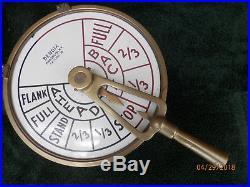 WW2 Vintage Navy Ships Engine Order Telegraph Bendix Mfg NY USA XLANT! Loud bell