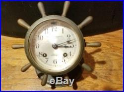 WWII Chelsea Vanderbilt Ship's Bell clock-original patina-Bailey Banks & Biddle