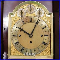 W&H Antique Mantel Clock TRIPLE FUSEE 2 Chime on 8 Bells/Gong HUGE 1880s Germany