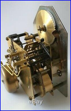 Warmink Clock Movement Fully Working Vintage Dutch 8 Day Bell Strike Moon Dial